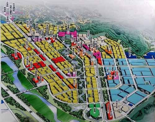 北川新址建设规划图