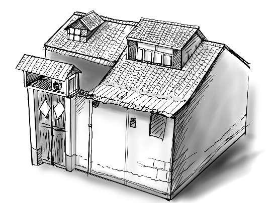 唐家老屋手绘图