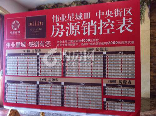 进行指定位置的特价房销售