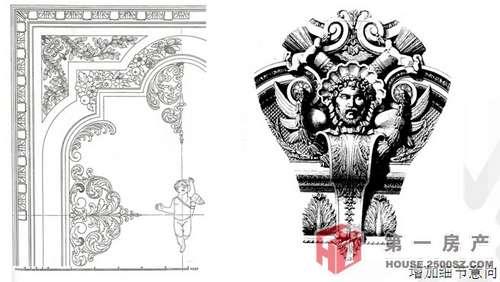 巴洛克穹顶图案手绘
