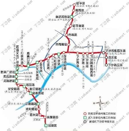 地铁一号线规划图 高清图片