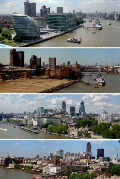 5.英国伦敦上世纪70年代和2006年