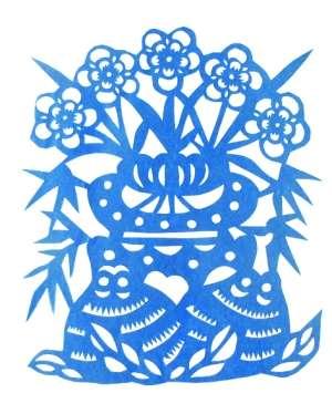 """中国古人有一种说法,为""""五福临门"""",而在陕北剪纸中有一张""""五福捧寿"""""""