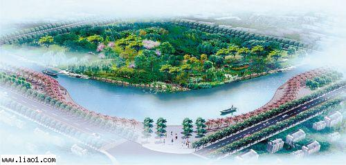 桥下河岸景观设计