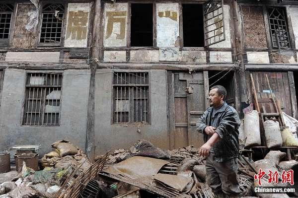 四川洪灾损失惨重 动物尸体布满街头(组图)